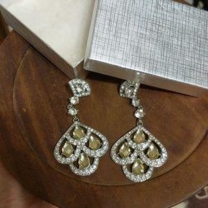 Chandelier Earrings !LIKE-NEW! 😍 Yellow + Silver!